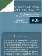development of face