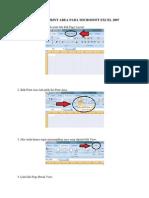 Cara Mengatur Print Area Pada Microsoft Excel 2007