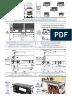 dimensión -camiones de carga
