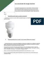 Eficientizarea consumului de energie electrică