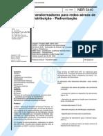 NBR 5440 - 1999 - Transformadores Para Redes Aereas de Distribuicao - Padronizacao