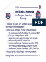 Key Issues in Wireless Green Network