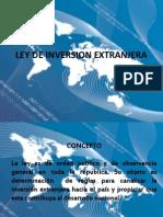 Exposicion de Ley de Inversion Extranjera Prof. Cristal