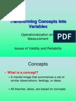 Transforming Concepts Into Variables