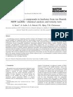 Baun Et Al. 2004, Xenobiotic Organic Compounds in Leachates