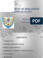 Assessment of Irrigation Water Quality
