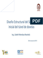 Diseño estructural del Soporte Inicial del túnel de dovelas de L-12