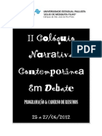CADERNO de RESUMOS II Coloquio Narrativa Contemporanea Em Debate