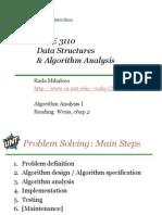 Algorithm Analysis 1