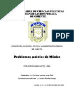 Ensayo Problemas Sociales de Mexico a Finales Del Siglo XX