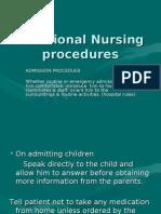 Additional Nursing Procedures