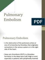 Pulmonary Embolism (BALANDAN)
