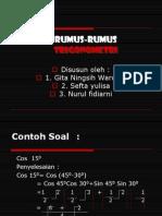 Rumus-rumus trigonometri