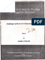 Arabic and Islamic Studies in Nigerian School