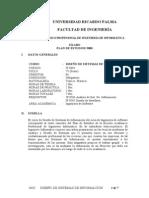 IF 0603 Diseño de Sistemas de Informacion
