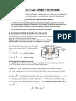 Cours Conductimetrie