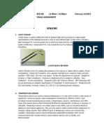 Sensors (Assignment)
