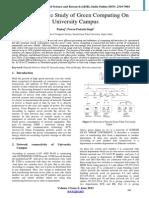 Comprative Study Of Green   Computing On University Campus