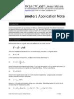 Linear Motor Parameter Application Note
