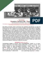 Nuestra Señora del rosario. 7 de octubre folleto