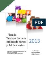 Plan de Trabajo Escuela Bíblica de Niños 2013