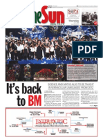 thesun 2009-07-09 page01 its back to bm