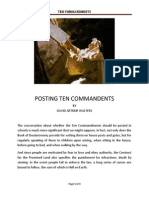 Posting Ten Commandments