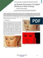 Image Processing Methods Performance for Digital Re-establishment of Older Paintings