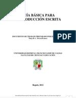 GUÍA BÁSICA PARA LA PRODUCCIÓN ESCRITA, ACTUALIZADA 7 DE SEPT. DE 2011