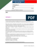 Previsão 1  Prova  Escrita de Matemática A 2013