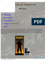 Soldier of Fortune - Manual - PC