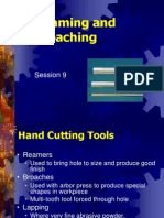 Hand Reaming and Broaching