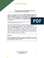 Foro Igualdad 2009_Peticiones Dirigidas a Las Instituciones