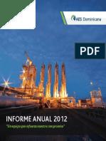 """Informe Anual 2012 AES Dominicana - """"Un equipo que refuerza nuestro compromiso"""""""