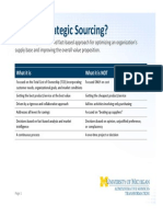 What is Strategic Sourcing 102811