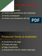 Protección remuneracion