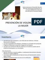 Prevención de violencia hacia la mujer