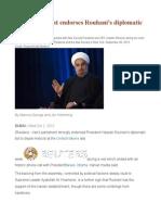 Iran Parliament Endorses Rouhani's Diplomatic Gambit