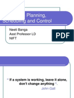 Production Planning,Scheduling and Control