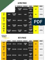 Focus T25 Nutrition Plan Pdf