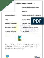 Kudakwashe Attachment Report