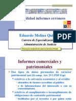 Responsabilidad Informes Erroneos (UBA CEADJ)