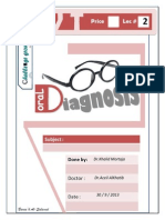 oral diagnosis  2nd Script