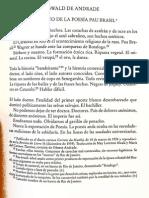 Andrade, Oswald. Manifiesto de la poesía Pau Brasil, Antropófago y poemas