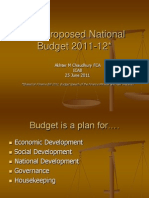 CPD Paper_The National Budget 2011-12