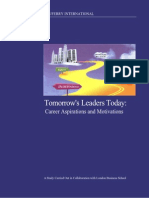Tomorrow's Leaders Today- Career Aspirations and Motivations