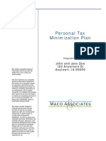 Tax Minimization Plan
