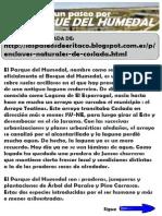 Información sobre el Parque del Humedal de Coslada
