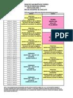 Cronograma de Teorias PAT 1 2013