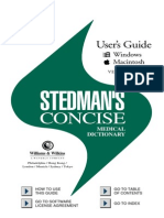 Stedman Consise Medical Dictionary 3rd Edition User Guide